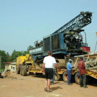 Drilling Equipment Transport and Setup
